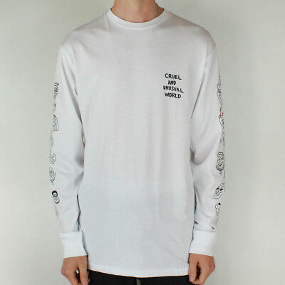 6bd761976 VANS X CULT Long Sleeve T-Shirt T-Shirt Top Brand New - White - Size ...