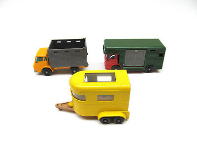Matchbox Lesney Cattle Truck Pony Trailer And Horse Box, No Animals Lot