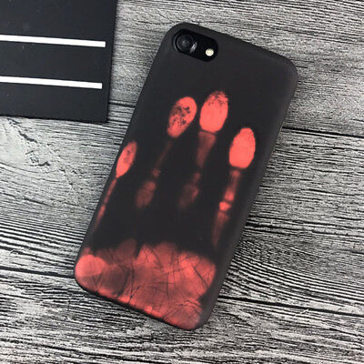 Fashional Thermal Sensor Case for iPhone X XS XR Heat Induction Phone Cover