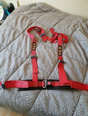 Omp 4 Point Race Harness Red Racing