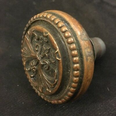 Antique Victorian Era Corbin Trivoli Bronze Collectible  Eastlake DoorKnob