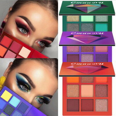 Beauty Glazed Enameled Eyeshadow Palette Makeup Brushes 9 Color Palette Makeup