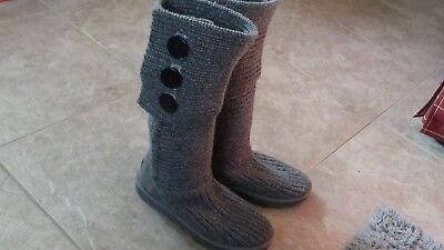 83e6839bc08 UGG WOMENS CLASSIC Cardy Grey Convertible Boots size 7 US, EU38 Model  1016555