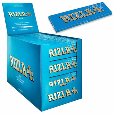 Blue Rizla  Rolling Paper Full Box Of 100 Booklets Single Size