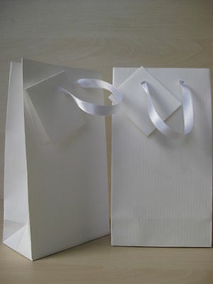 Small White Paper Gift Bags + Gift Cards Pack Of 10 / Handmade