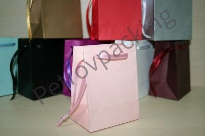 Extra Small Pink Paper Gift Bags Pk Of 10 Handmade
