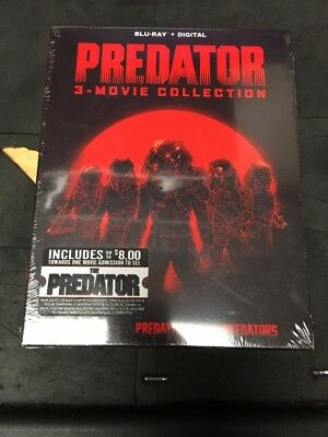 Predator 3-Movie Collection Blu Ray And Digital 3 Disc Set With Slipcover
