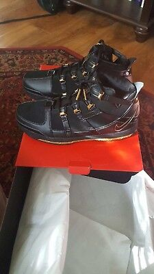 WITH RECEIPT 2018 Nike Zoom Lebron 3 Metallic Gold Size 8-13 Black 312147- b9c5d008f