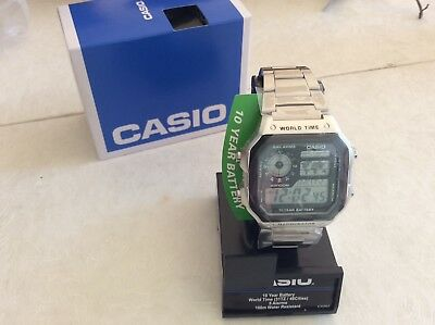 Men's Casio World Time Digital Watch AE1200WHD-1A