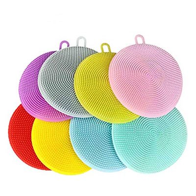 Silicone Cleaning Brush with Circular Chuck 8 pcs,Easy Cleaning Ceramics …