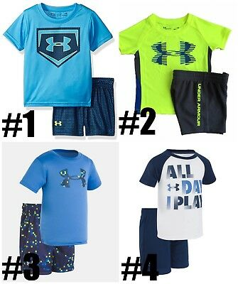 UNDER ARMOUR Toddler Boys 2 Piece Long Sleeve Shirt or Hoodie/&Pant Set,MSRP35-45