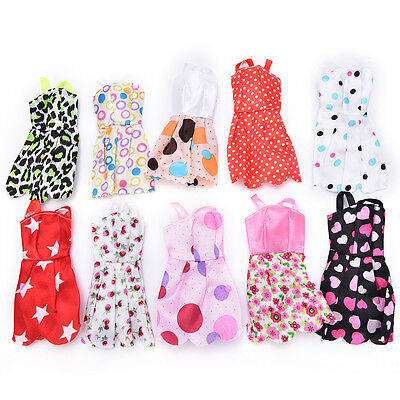 Beautiful Handmade Party Clothes Fashion Dress for Noble  Doll Mixed LJ