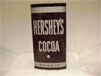 Vintage Hershey's Cocoa Tin, 16 Ounce, 1960's-1970's
