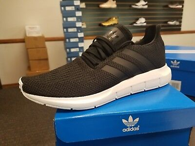 Brand New In Box Mens Original Adidas Running Shoes Swift Run B37726 Black White