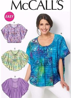 Mccalls M6962 Misses Yoke Front Tops Blouse Sewing Pattern Size 16
