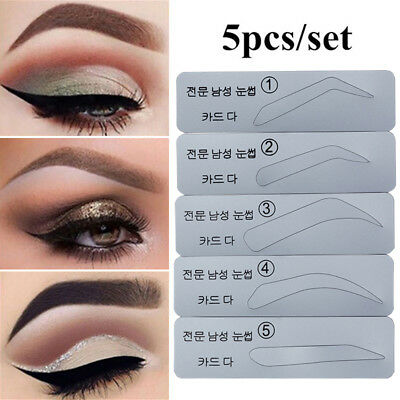 Microblading Permanent Makeup Eyebrow Shaping Stencils Card Template