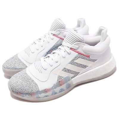 new product 69019 dcc48 adidas Marquee Boost Low Off White Shock Cyan Men Basketball Shoe Sneaker  G27745