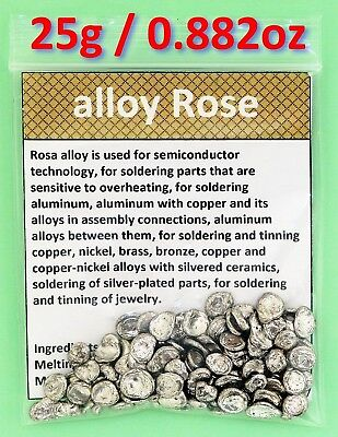 25g - Alloy Rose / Rose's metal / Roses metal (Lead, Bismuth, Tin alloy)