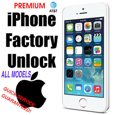 PREMIUM FACTORY UNLOCK SERVICE for AT&T ATT iPhone 6/6+/6S/SE 7/7+ 8/8+ X/XR/XS