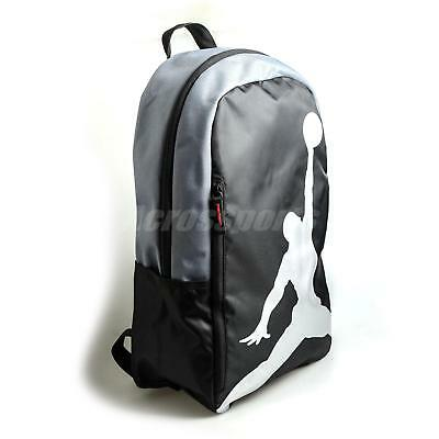 c7053cbd33a8 Nike Jordan Iso Crossover Backpack Jumpman Black Grey Silver School Bookbag  24L