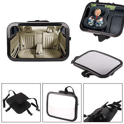 25X19 cm Wide Baby Child Car Safety Back Seat Mirror Rear View Easily Adjustable