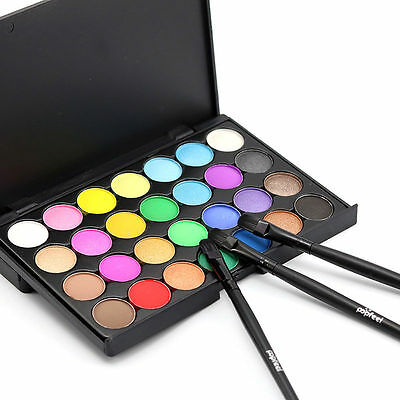 Fashion 28 Colors Eyeshadow Palette Smokey Makeup Eye Nude Cosmetic Chocolate PA
