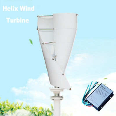 300W Helix Magnetic Levitation Axis Vertical Wind Turbine Generator MPPT 12/24V