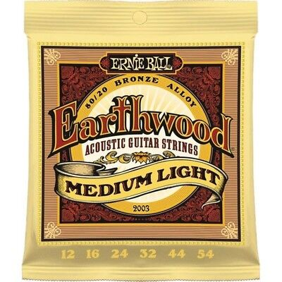 Ernie Ball 2003 Package Strings for acoustic guitar scaling 12-54 Earthwood bass