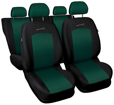 Car seat covers fit Toyota Prius - full set green / black sport style