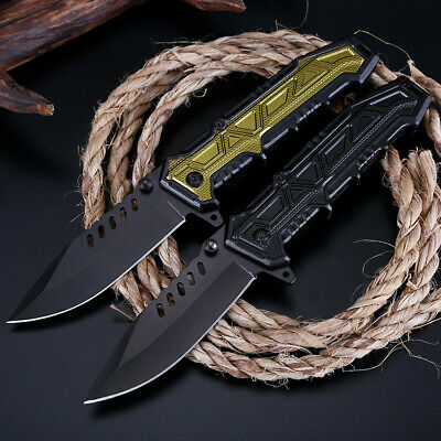 """8"""" Pocket Tactical Folding Military Hunting Knife Spring Assisted Outdoor EDC"""