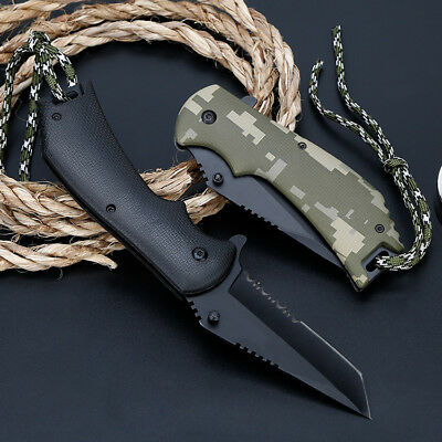 "8"" Pocket Tactical Folding Military Knife Spring Assisted Blade Open EDC"