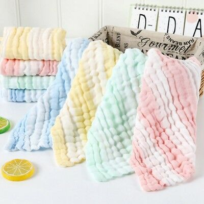 6 Layer Baby Bibs Infant Hot Saliva Handkerchief Toddler Feeding Burp Towel New