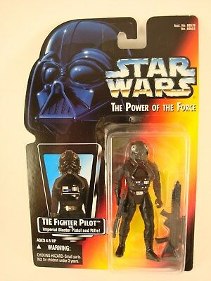 TIE-Fighter Pilot ( Printed Warning )  .01 Red Card POTF2 1995 Star Wars Figure
