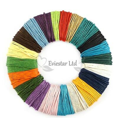 Waxed Cotton Cord 1mm thick Jewellery Stringing Shamballa - Various Colours
