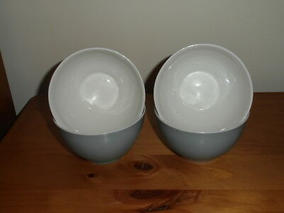 Royal Doulton Blue And White Cereal/soup Bowls X4 Seconds Quality