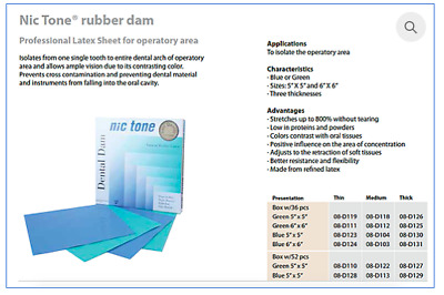Nic Tone® Latex Rubber Dam, Durable, Pick and Choose Your Type! High Quality