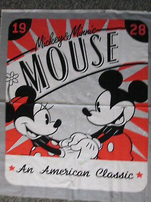 Mickey Mouse Minnie Mouse American Classic 1928 Large Cotton Fabric Panel