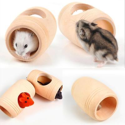MINI HOLZ FASS Haus Spielrohr Spielzeug Fur Hamster Nager Mouse