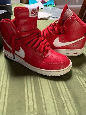 size 40 9742d fa4b6 Nike Men s Air Force 1 High Tops 9.5 Red Good Condition Retro Vintage