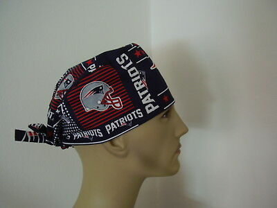 Surgical Scrub Hat/Cap -NFL- NEW ENGLAND PATRIOTS  - One size- Men Women