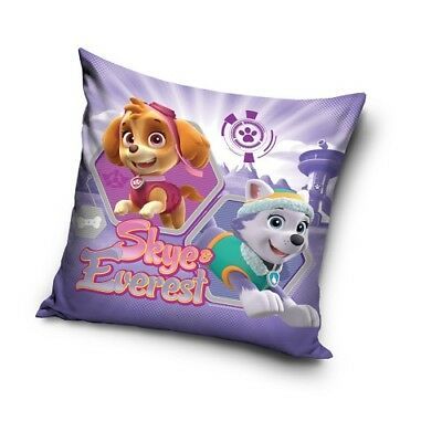 PAW PATROL Skye and Everest Pups cushion cover 40x40cm pillow cover purple