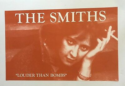 The Smiths - Original Vintage Louder Than Bombs Record Store Promo Poster - NM
