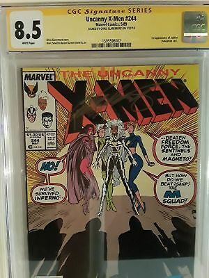 UNCANNY X-MEN #244 (CGC 8.5) SIGNED BY CHRIS CLAREMONT! 1st JUBILEE APPEARANCE