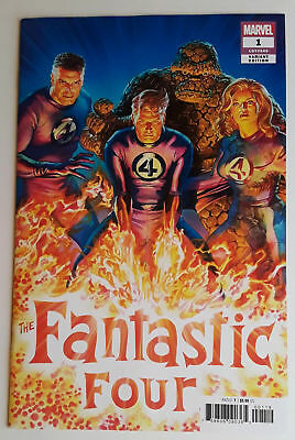 Fantastic Four #1 (Nm) 2018 First Issue! Alex Ross 1:50 Variant