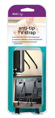Anti-Tip flat screen TV Safety Strap (Black), new in package, KidCo, 2 pack