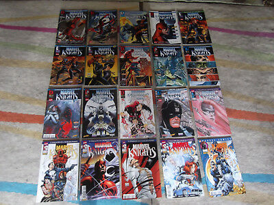 Lot complet Marvel Knights 1-20 BE VF 1ère série Daredevil Punisher Inhumains
