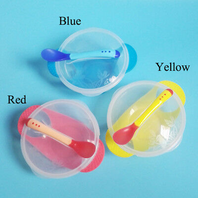 for Bowl Kids Plastic 3 Colors 12.6*8.8*5.5cm Feeding Baby Temperature Sensing