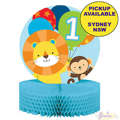 Jungle Animals Boys 1St Birthday Party Supplies Table Centrepiece Decorations