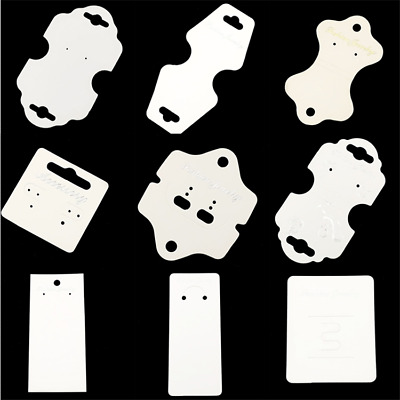 50pcs Earring Necklace Jewelry Display Card White Paper