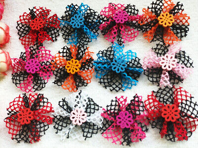 30pcs Handmade design Dog Hair Bows rubber band Pet Dog Grooming Accessories